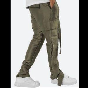 MNML 29 olive Snap Zipper Cargo pants